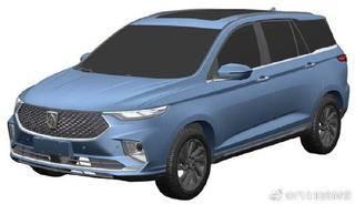 宝骏全新运动型多用途车申报图曝光 大空间 或采用联屏设计