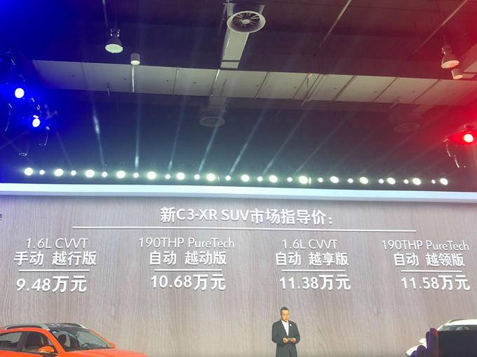 东风雪铁龙新C3-XR开卖 售9.48-11.58万元-图1