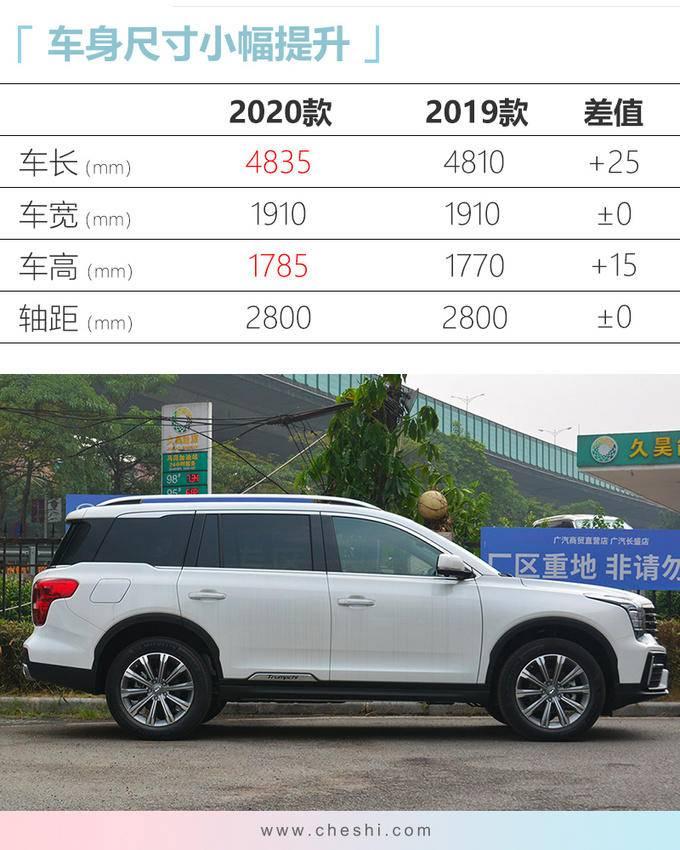 广汽传祺新GS8动力大增 起售价涨3千卖16.68万-图4