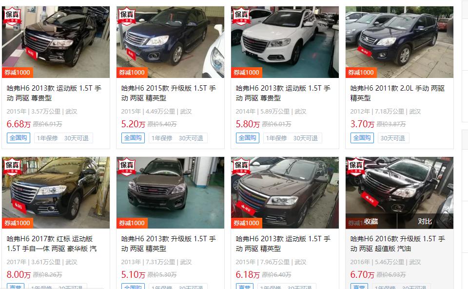 为什么二手汽车市场这么多二手哈弗h6