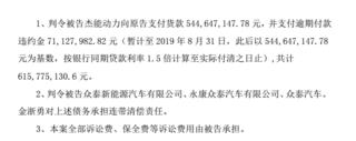 拖欠比克动力6.16亿元货款,众泰汽车再成被告
