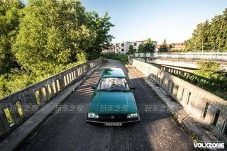 有情怀的桑塔纳旅行版改装案例 英伦绿车漆更显味道