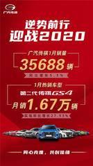 迎战2020,广汽传祺首月销量开门红