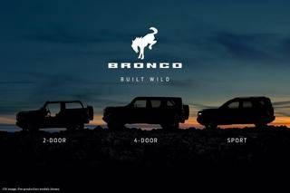 三种车型可选 全新福特Bronco预告图